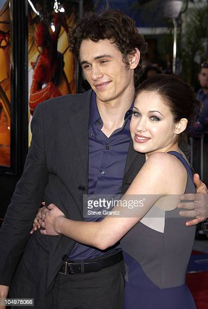 James Franco Marla Sokoloff during 'SpiderMan' Premiere at Mann Village in Westwood California United States