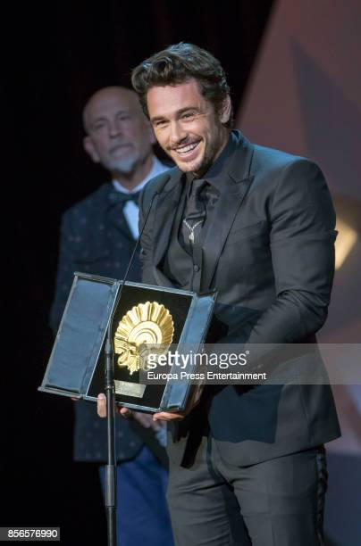 James Franco receives the Best Film Award for the 'The Disaster Artist' film during 65th San Sebastian Film Festival at Kursaal on September 30 2017...