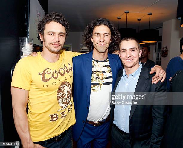 James Franco, Tom Franco and Dave Franco attend the Art of Elysium presents Tom Franco at the art salon on May 7, 2016 in Los Angeles, California.