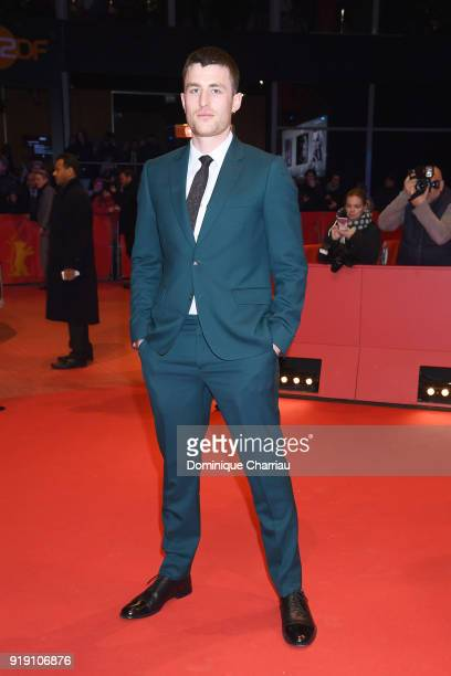 James Frecheville attends the 'Black 47' premiere during the 68th Berlinale International Film Festival Berlin at Berlinale Palast on February 16...