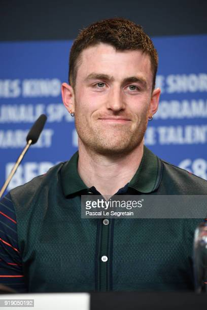 James Frecheville attends the 'Black 47' press conference during the 68th Berlinale International Film Festival Berlin at Grand Hyatt Hotel on...