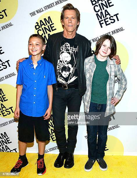 James FreedsonJackson Kevin Bacon and Hays Wellford attend BAMcinemaFest 2015 Cop Car premiere at BAM Peter Jay Sharp Building on June 21 2015 in New...