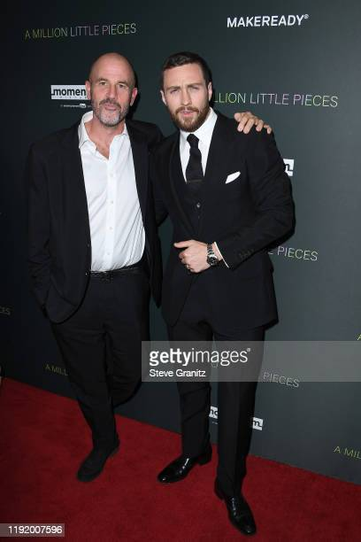 """James Frey and Aaron Taylor-Johnson attend the special screening of Momentum Pictures' """"A Million Little Pieces"""" at The London Hotel on December 04,..."""