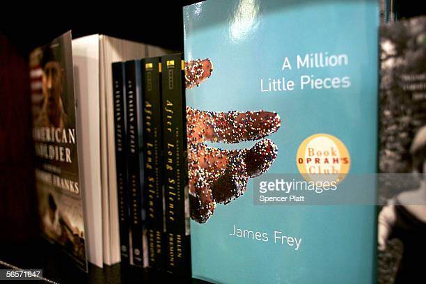 James Frey's book A Million Little Pieces, a best-selling memoir about substance abuse, is displayed on a shelf at a bookstore January 11, 2006 in...