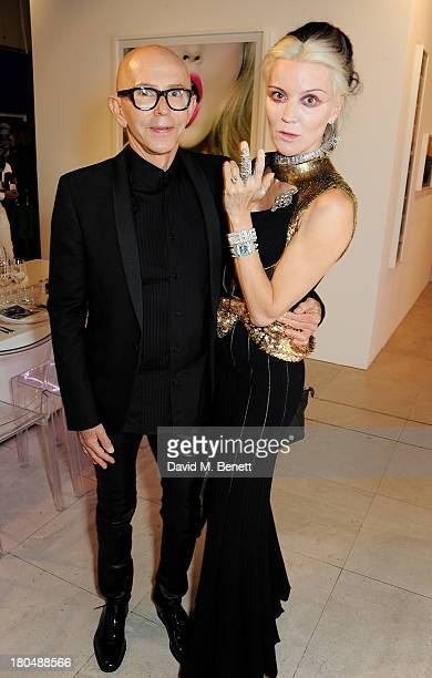 James Gager and Daphne Guinness attend the exclusive MAC dinner hosted by James Gager Senior Vice President Group Creative Director MAC Cosmetics and...