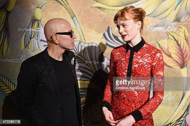 James Gager and Jessica Joffe attend the MAC x Guo Pei dinner on May 5 2015 in New York City