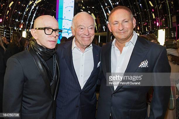 James Gager Senior Vice President Group Creative Director MAC Cosmetics Leonard Lauder chairman emeritus of The Estee Lauder Companies Inc and John...