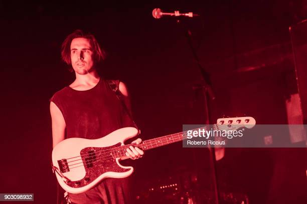 James Gamage of Coasts performs on stage at O2 Academy Glasgow on January 9 2018 in Glasgow Scotland