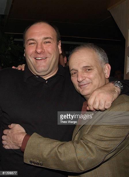 James Gandolfini and David Chase 'The Sopranos' creator/executive producer