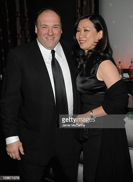 James Gandolfini and Deborah Lin attend the 2009 New York Film Critic's Circle Awards at Crimson on January 11 2010 in New York City
