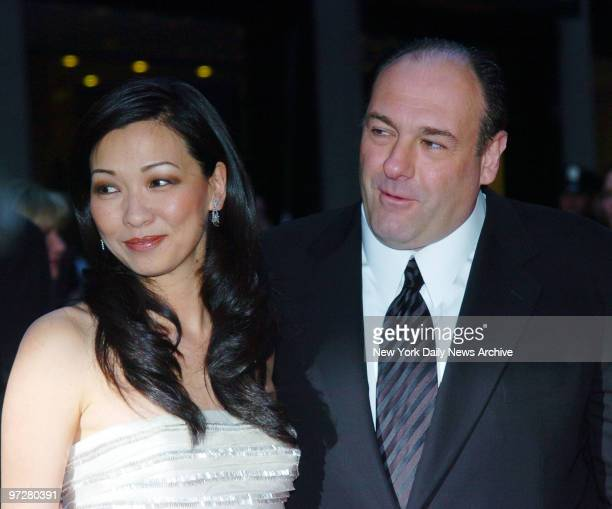 James Gandolfini and Deborah Lin attend the world premiere for the new episodes of the HBO original series The Sopranos at Radio City Music Hall He...