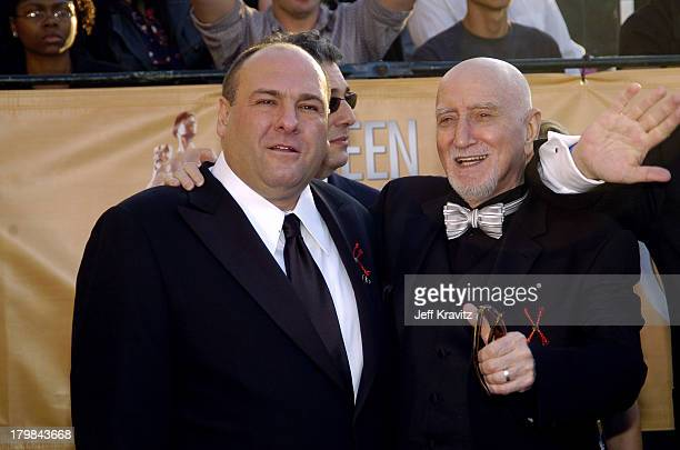 James Gandolfini and Dominic Chianese of The Sopranos