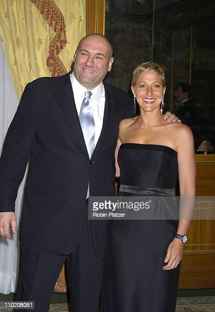 James Gandolfini and Edie Falco during The 'ForgetMeNot' Gala Benefitting The Alzheimers Association NYC Chapter at The Pierre Hotel in New York New...
