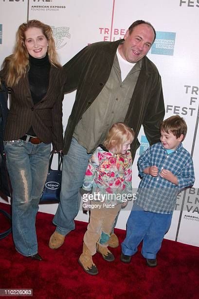 James Gandolfini and family during 4th Annual Tribeca Film Festival The Muppets' Wizard of Oz Premiere Inside Arrivals at Tribeca Performing Arts...