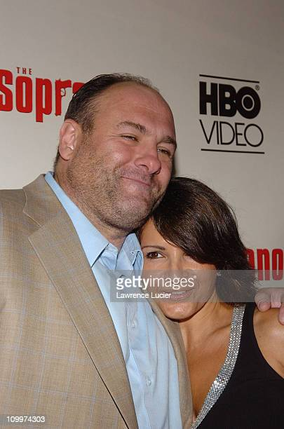 James Gandolfini and Kathrine Narducci during The Sopranos The Complete Fifth Season DVD Release Party at English Is Italian in New York City New...