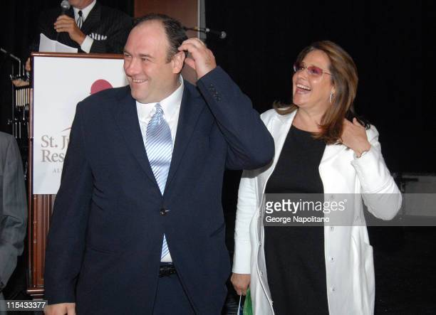 James Gandolfini and Lorraine Bracco at a Sopranos benefit at Pier 60 at Chelsea Piers in New York City for the St Jude Children's Research Hospital
