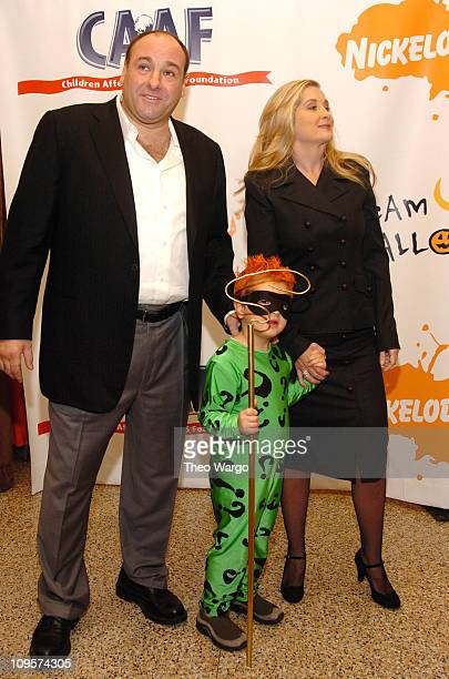James Gandolfini and Marcy Gandolfini with son during Annual Dream Halloween Fundraiser for Children Affected by AIDS Foundation at Hammerstein...