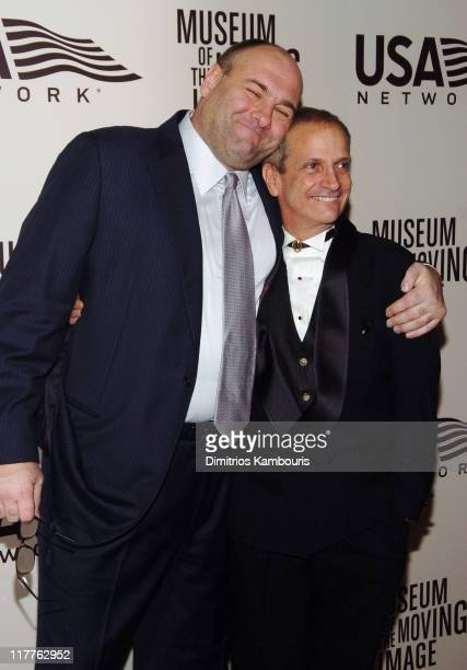 James Gandolfini and Ron Palillo attend Moving Image Salutes John Travolta at the Waldorf Astoria Hotel in New York City on Sunday November 5 2004