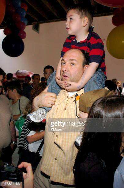 James Gandolfini and son during 11th Annual Kids for Kids Celebrity Carnival to Benefit the Elizabeth Glaser Pediatric AIDS Foundation Inside at...