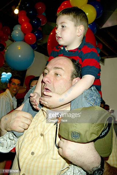 James Gandolfini and son Michael during 11th Annual Kids for Kids Celebrity Carnival to Benefit the Elizabeth Glaser Pediatric AIDS Foundation Inside...