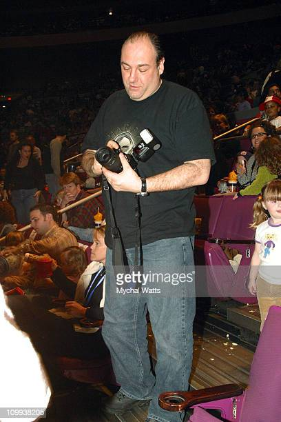 James Gandolfini during Ashanti Performs at the Ringling Bros and Barnum Bailey The Greatest Show On Earth Backstage and Audience March 27 2004 at...