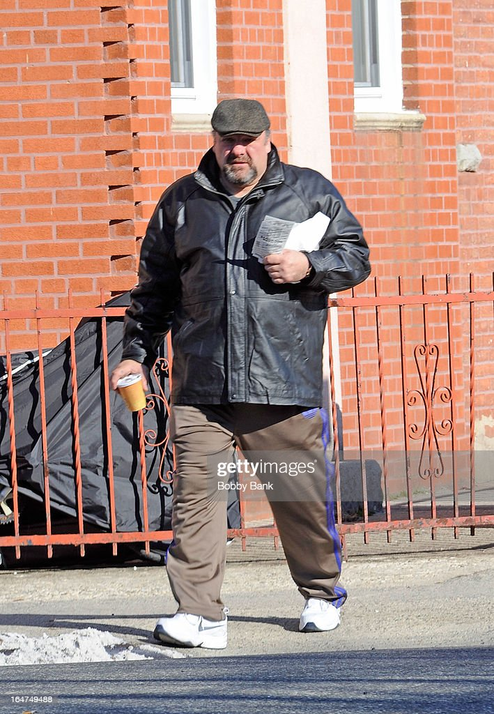 James Gandolfini filming on location for 'Animal Rescue' on March 27, 2013 in the Brooklyn borough of New York City.