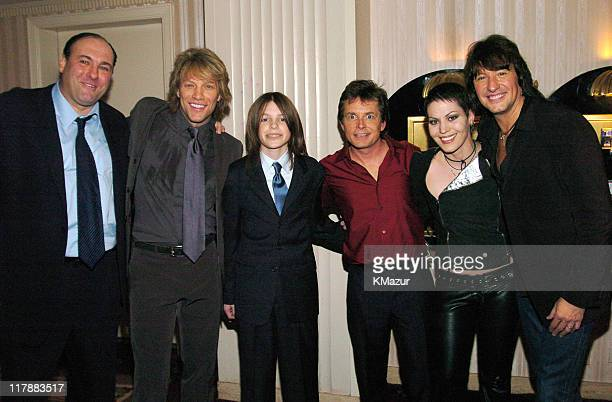 James Gandolfini Jon Bon Jovi son Sam Fox Michael J Fox Joan Jett and Richie Sambora