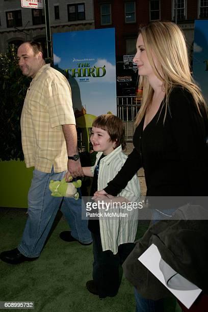 James Gandolfini Michael Gandolfini and Marcy Gandolfini attend Shrek the Third Dreamworks Special Screening at Chelsea Clearview Cinemas on May 14...