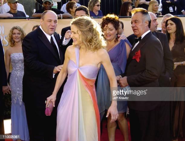 James Gandolfini Steve Schirripa Aida Turturro and Tony Sirico and Kyra Sedgwick
