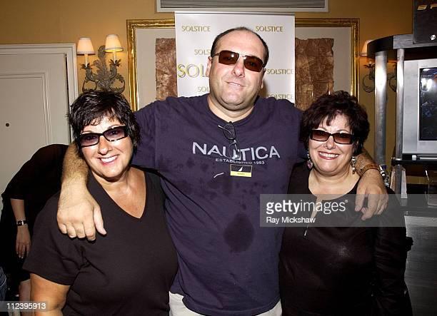 James Gandolfini wearing Dior Homme 31S Sunglasses with his Sisters Leta Gandolfini and Johanna Antonacci both wearing Valentino 5342S Sunglasses