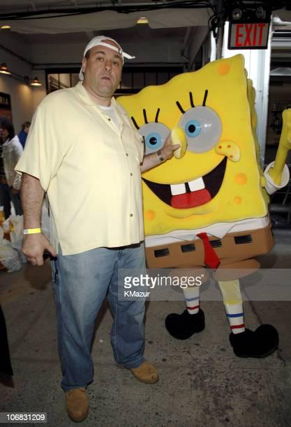 James Gandolfini with SpongeBob SquarePants during 12th Annual Kids for Kids Celebrity Carnival to Benefit the Elizabeth Glaser Pediatric AIDS...