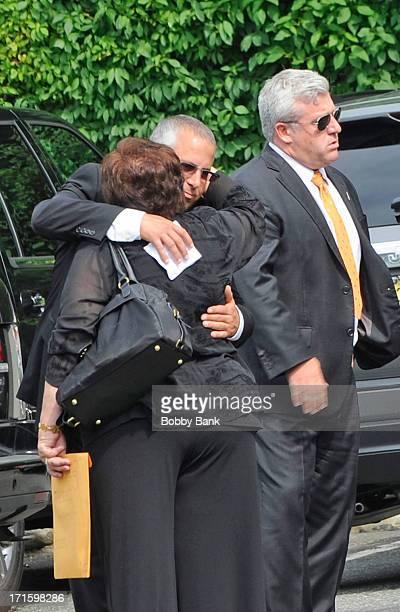 James Gandolfini's sister Johanna Antonacci attends the private visitation for actor James Gandolfini at Robert Spearing Funeral Home on June 26 2013...