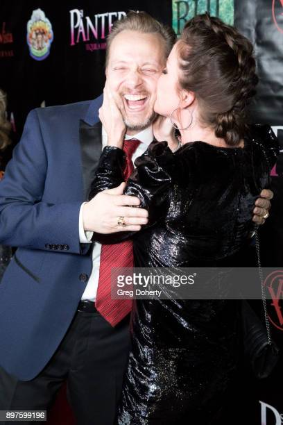 James Ganiere and Kira Reed Lorsch attend the Rio Vista Universal's Valkyrie Awards and Holiday Party on December 16 2017 in Los Angeles California