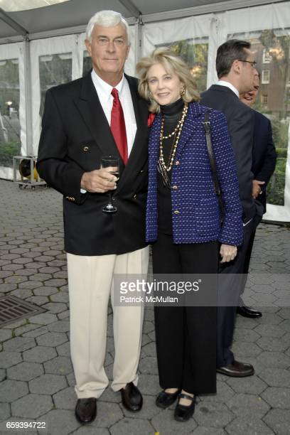 James Gardner and Maria Cooper Janis attend WILLIAM FLAHERTY Hosts Book Party for JAMES GARDNER's THE LION KILLER at The Central Park Zoo on...