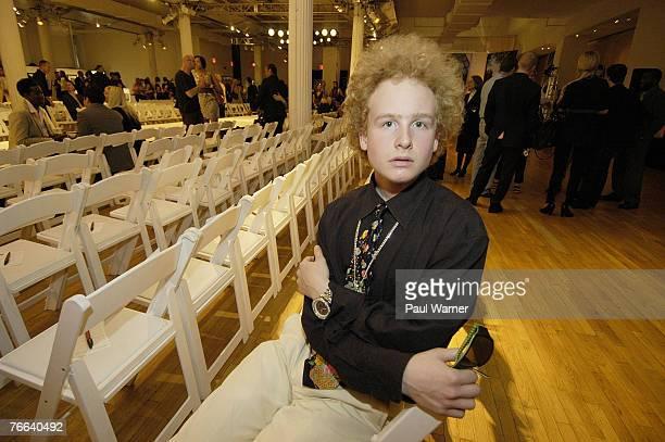 James Garfunkel son of singer Art Garfunkel poses after the Loris Diran fashion show during MercedesBenz Fashion Week Spring 2008 on Monday September...