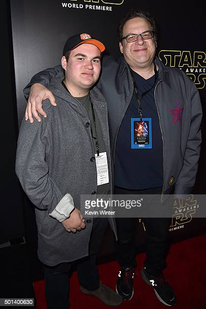 James Garlin and actor Jeff Garlin attend the World Premiere of Star Wars The Force Awakens at the Dolby El Capitan and TCL Theatres on December 14...