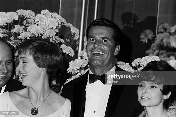 James Garner and his wife Julie Andrews on the right at a formal event circa 1970 New York