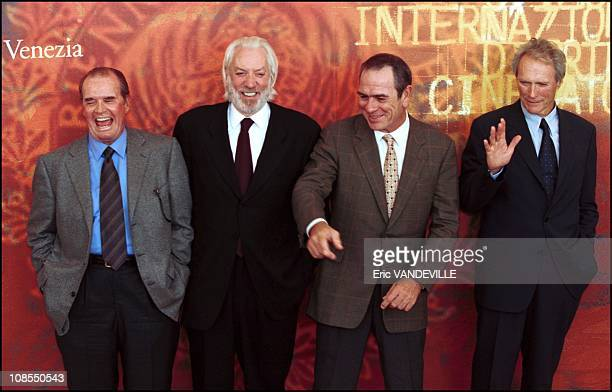 James Garner Donald Sutherland Tommy Lee Jones Clint Eastwood in Venice Italy on August 30th 2010