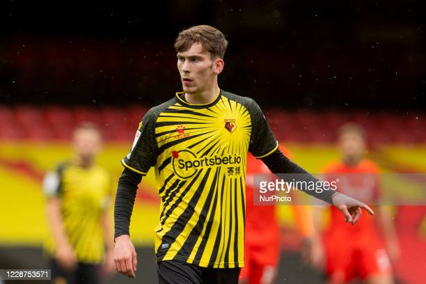 James Garner during the Sky Bet Championship match between Watford and Luton Town at Vicarage Road Watford England on September 26 2020