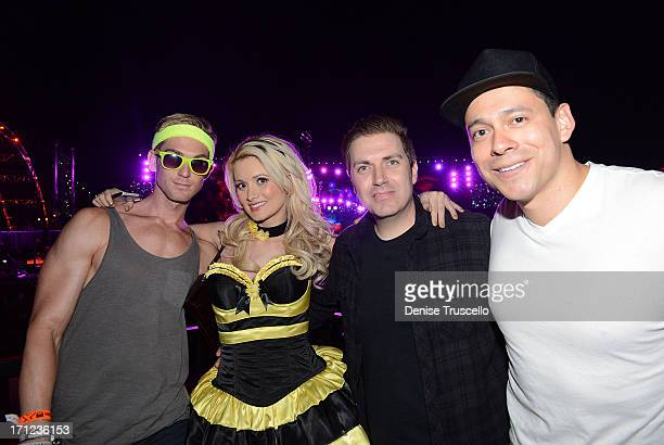 James Garrett Holly Madison Pasquale Rotella and Alex Acuna during the 17th annual Electric Daisy Carnival at Las Vegas Motor Speedway on June 22...