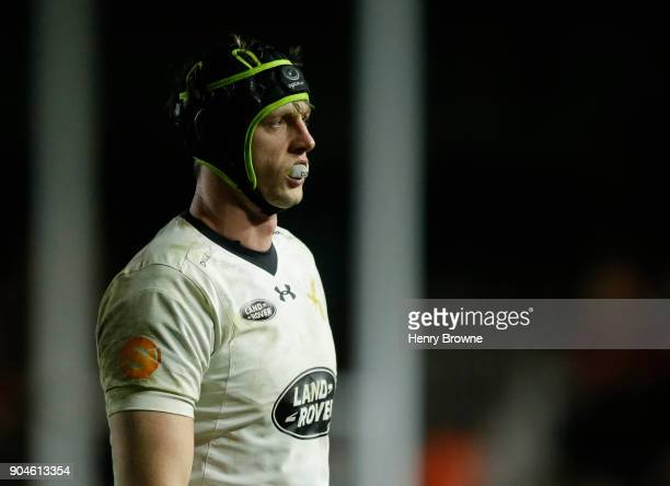 James Gaskell of Wasps during the European Rugby Champions Cup match between Harlequins and Wasps at Twickenham Stoop on January 13 2018 in London...