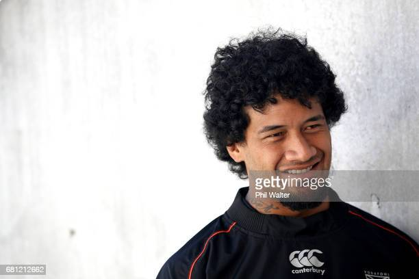 James Gavet during a New Zealand Warriors NRL media session at Mt Smart Stadium on May 10 2017 in Auckland New Zealand