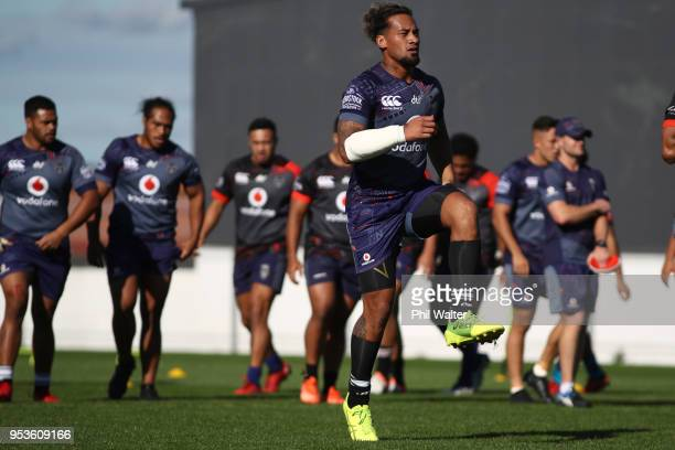 James Gavet of the Warriors during a New Zealand Warriors training session on May 2 2018 in Auckland New Zealand