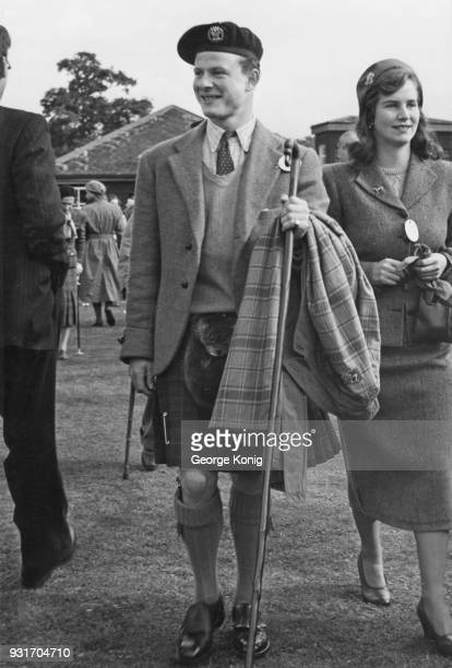 James George Alexander Bannerman Carnegie later the 3rd Duke of Fife at a time when he was romantically linked to Princess Margaret October 1951