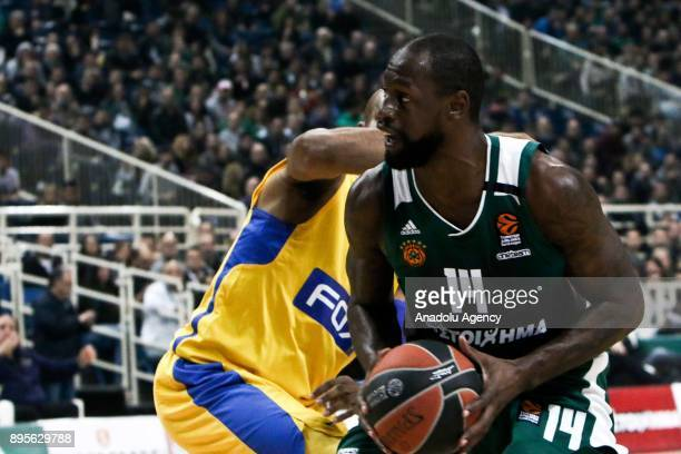 James Gist of Panathinaikos Superfoods Athens in action during the Turkish Airlines Euroleague basketball match between Panathinaikos Superfoods...