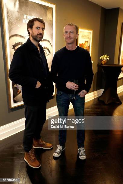 James Golding and Mike Snelle attend an intimate VIP private view for The Connor Brothers with catering by Michelin Starred chef Tom Sellers at...