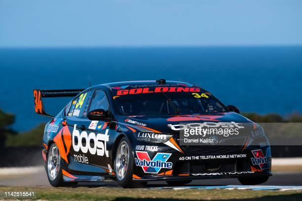 James Golding drives the Boost Mobile Racing Holden Commodore ZB during the Phillip Island 500 as part of the Supercars Championship season at...