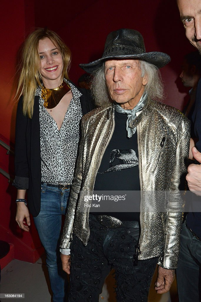 James Goldstein (R) and a guest attend the Diesel and Edun Party - PFW F/W 2013 at La Gaite Lyrique on March 3rd, 2013 in Paris, France.