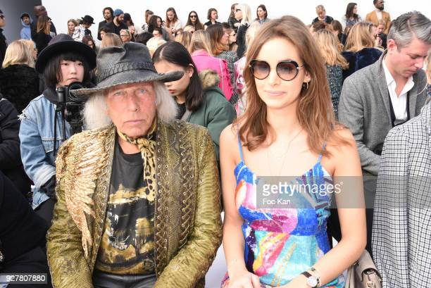 James Goldstein and actress Elisa Bachir Bey attend the Leonard show as part of the Paris Fashion Week Womenswear Fall/Winter 2018/2019 on March...