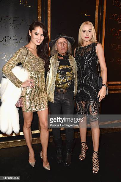 James Goldstein and guest attend the Gold Obsession Party L'Oreal Paris Photocall as part of the Paris Fashion Week Womenswear Spring/Summer 2017 on...